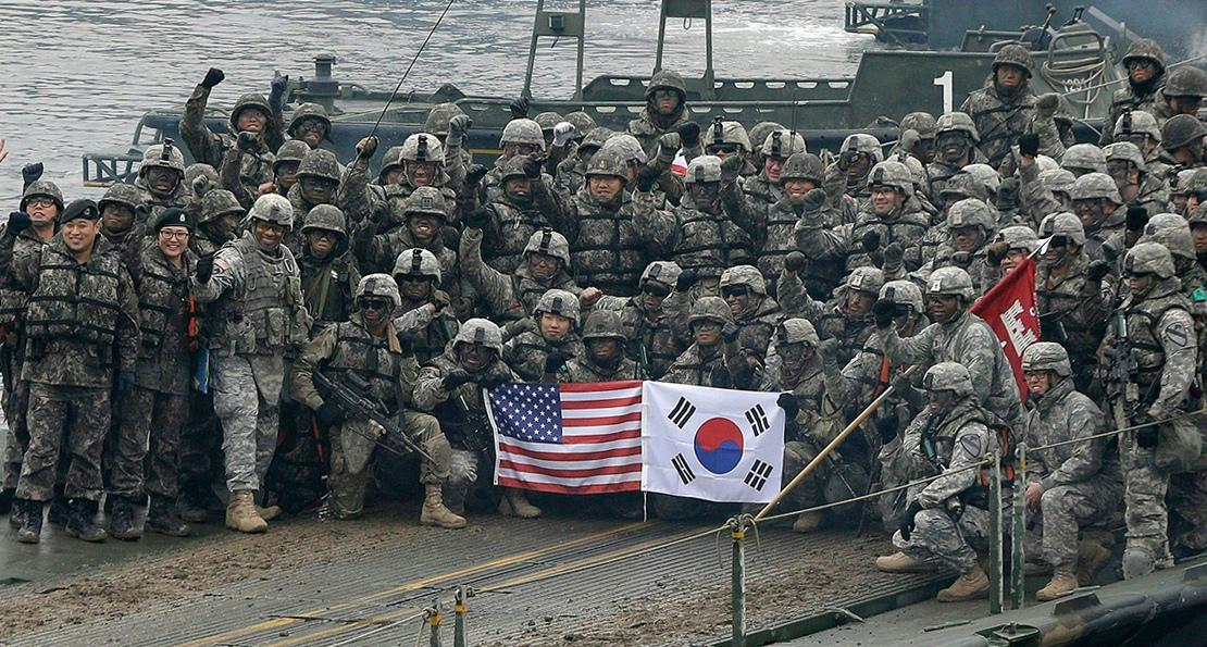 Морпехи США и Южной Кореи