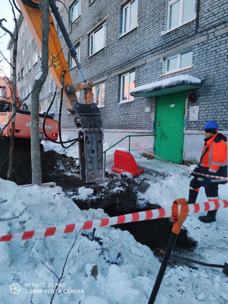 Замена участка канализационной сети, г. Кировск
