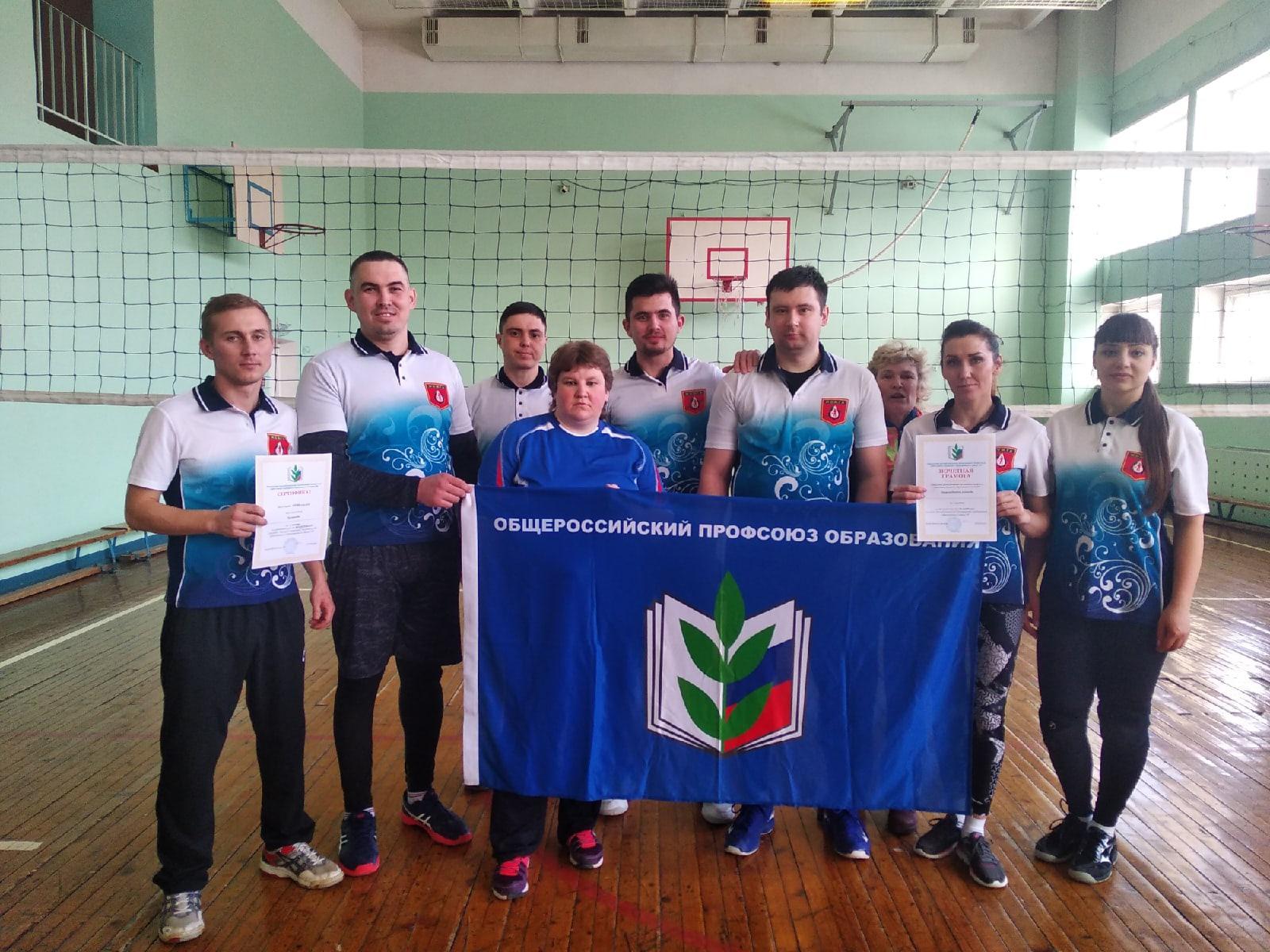 🥇Команда педагогов из Можги взяла золото в республиканских соревнованиях по волейболу