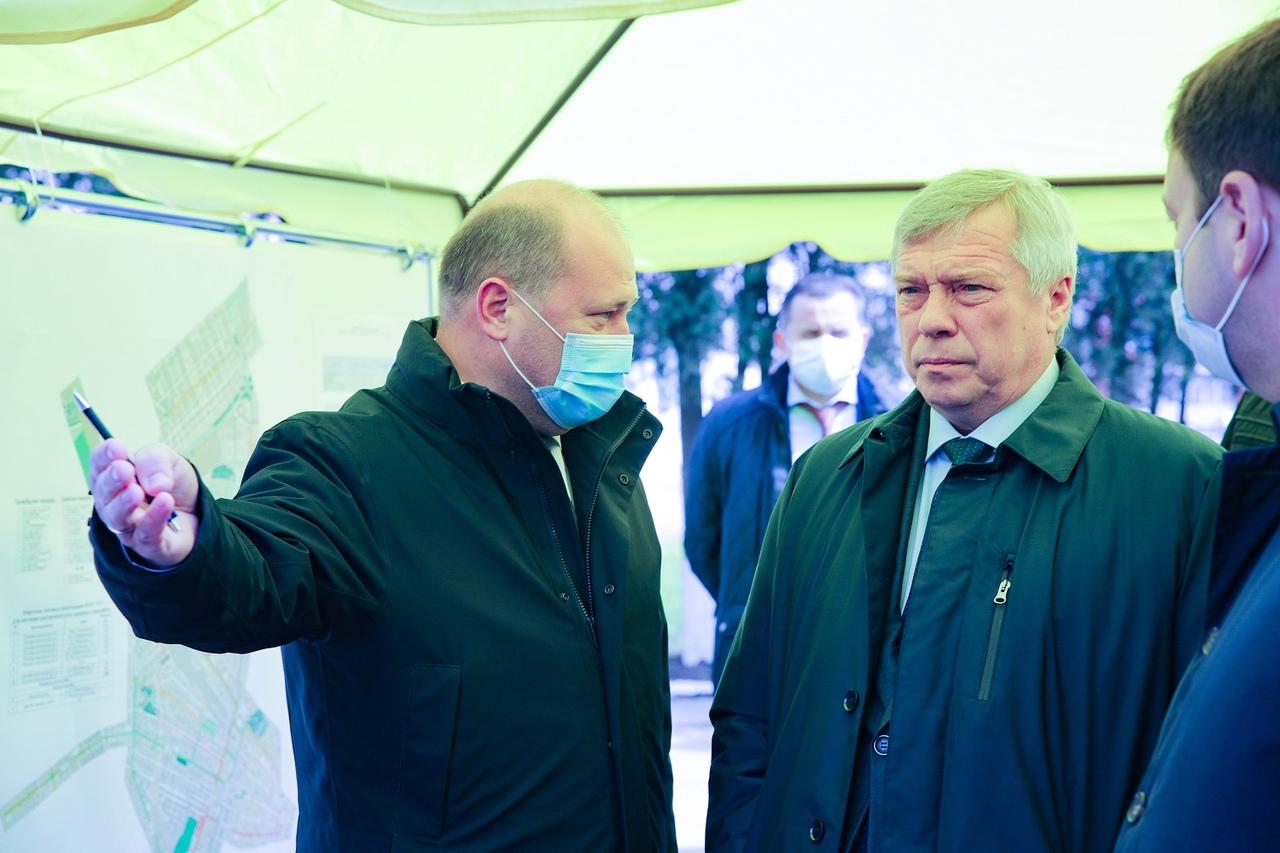 В Таганроге с рабочим визитом побывал губернатор Ростовской области Василий Голубев