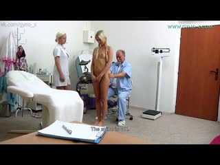 Gyno-X Cayla Lyons [Medical Fetish, Gyno Exam, Legal Teen, Anal Checkup, Vaginal Enema, Pissing, Tiny Tits, Masturbation]
