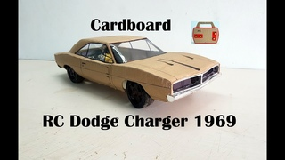 WOW! Super Dodge Charger 1969   How to make old Dodge car with cardboard   DIY   Electric toy car
