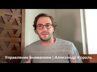 Управление вниманием - энергиеи  - Александр Король