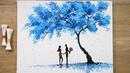 Blue Sky Cotton Swabs Painting Technique 417