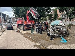 Как в бельгийском Вервье ликвидируют последствия наводнений…