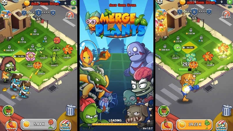 Merge Plants EN First look Zombie Defense game Android Gameplay