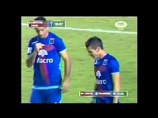 10' PT - Gol de Ruben Botta - Libertad 3 vs Tigre 5 - Copa Libertadores 2013