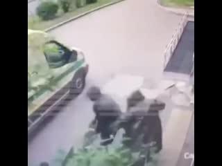 Разбойное нападения на инкассаторов Сбербанка!