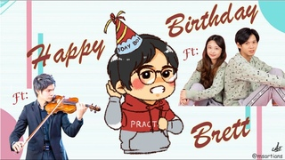 Happy Birthday Brett! @TwoSetViolin  Featuring Jordon He, Joanne Tseng, Jason Lan