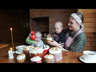 RUSSIAN EASTER cakes in village. Recipe + ASMR sounds