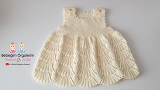 #elifpirenvise #babydress Süpürge Modelli Bebek Elbisesi
