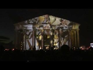 3D проекционное шоу в Астане на день города