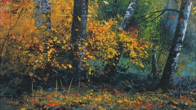 Colors of Autumn Acrylic Painting Artist Yushkevich Viktor