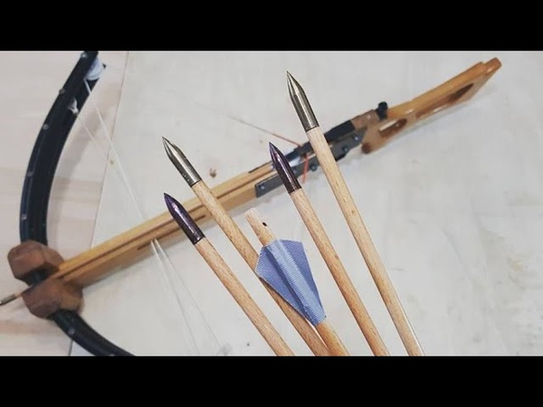 How to Make Crossbow Bolts Steel Tip Wooden Shaft