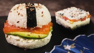 СУШИ-БУРГЕР и СУШИ-САЛАТ. Как сделать ленивые суши