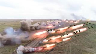 Massive Fire On target! TOS1-A, BM-30 Smerch 9K58, Tornado-G, BM-27 Uragan in Action
