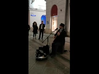 Shape Of My Heart (Sting). Cover by Ronen Cliff. Street Musician, Busker. Moscow 2020