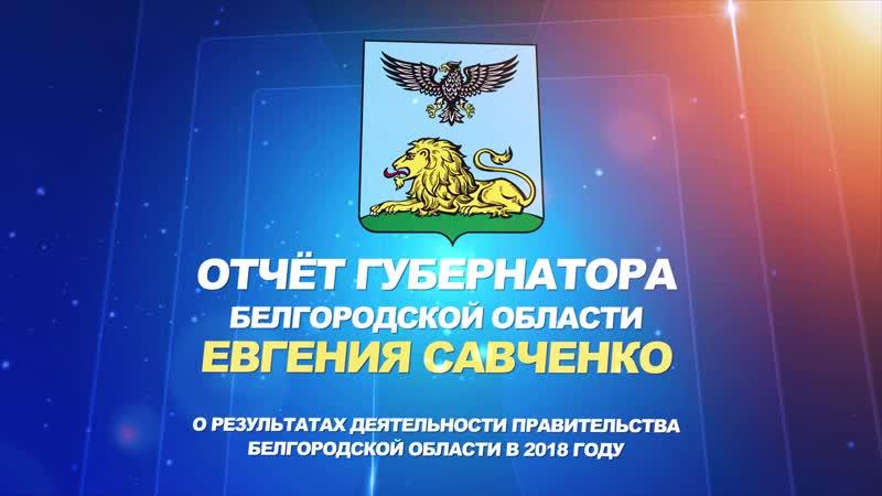 Отчёт губернатора Е Савченко о работе правительства Белгородской области в 2018 году