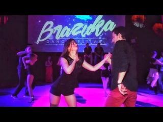 Brazuka 2018. Aleksandr Butenko and Valery Ponkina. Zouk improvisation.