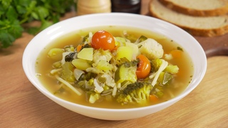 Минестроне / Minestrone. Знаменитый итальянский суп из овощей за 30 минут. Рецепт от Всегда Вкусно!