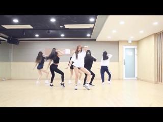 Aoa - 빙글뱅글 (bingle bangle) dance practice [mirrored]