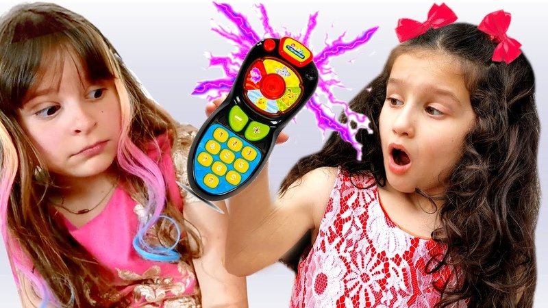 Pretend play with magic remote control toy Funny stories For Kids by Alice and TOYS