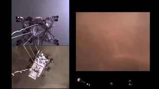 Первое видео посадки Марсохода на Марс (перевод)   звуки Марса от Perseverance и первая панорама
